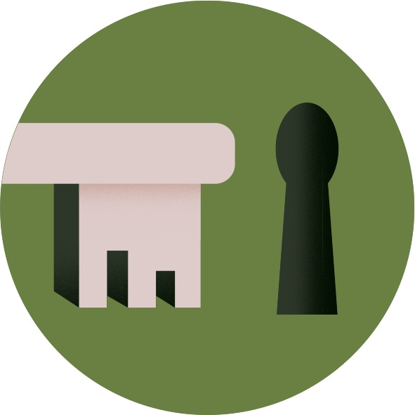 Biovault security icon